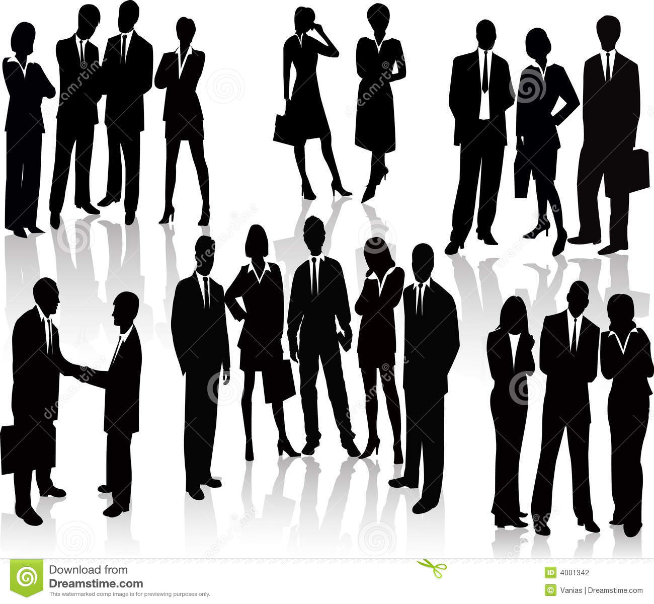 Business People Vector Stock Images Image 9477144 - Business illustration people silhouette vector