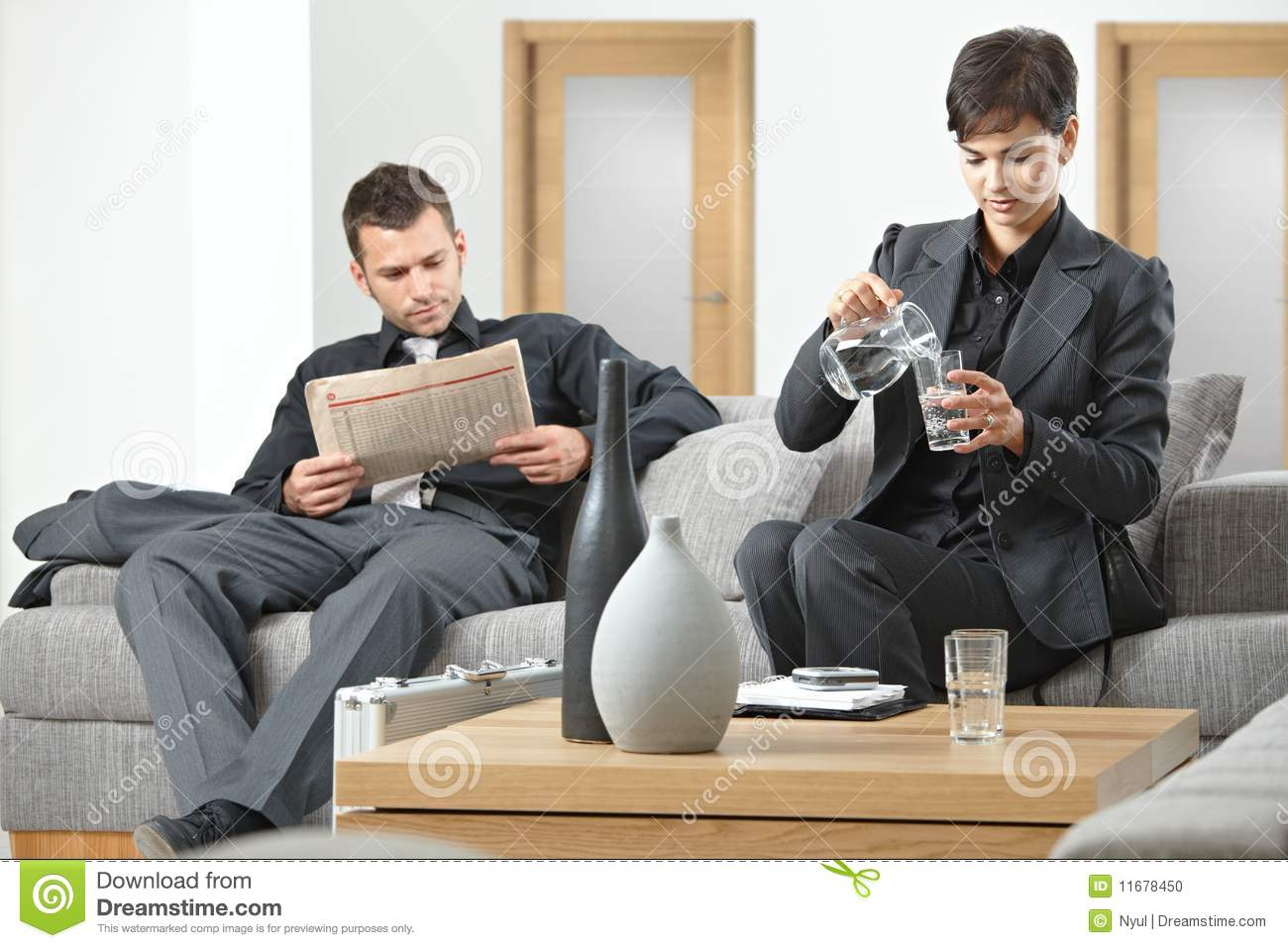 Business People Waiting Stock Photo - Image: 11678450