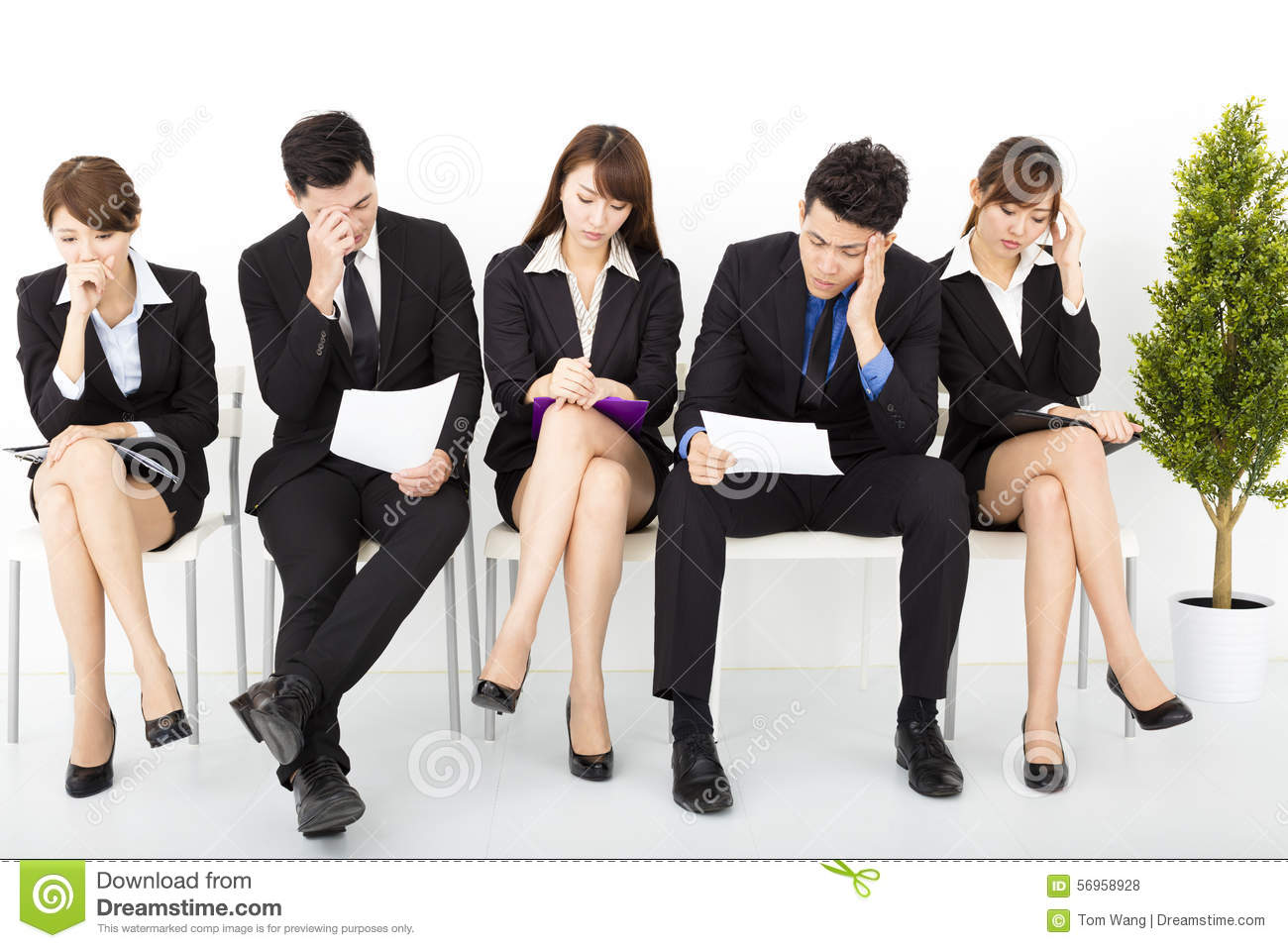 Business People Waiting For Interview Stock Photo Image