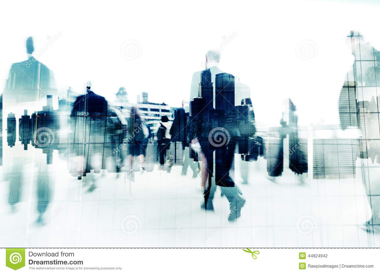 Crowd of people walking crossing street at intersection in ...  |Person Walking City