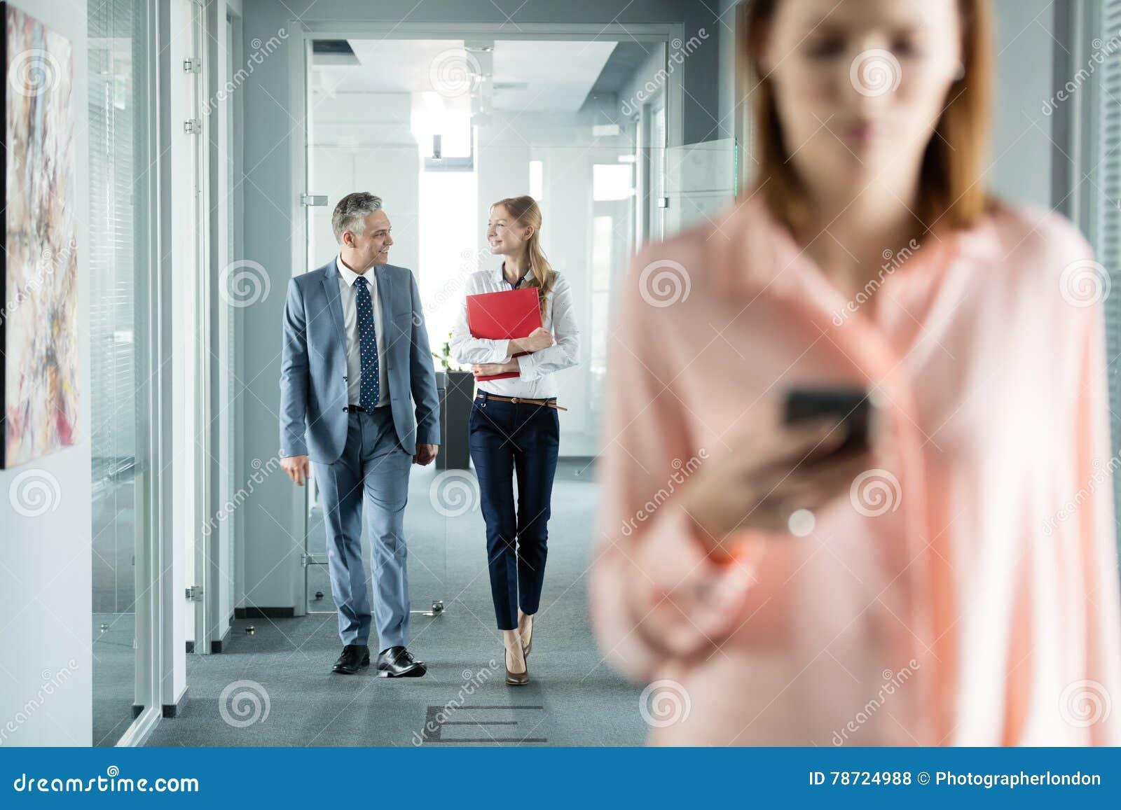 people in office corridor royalty