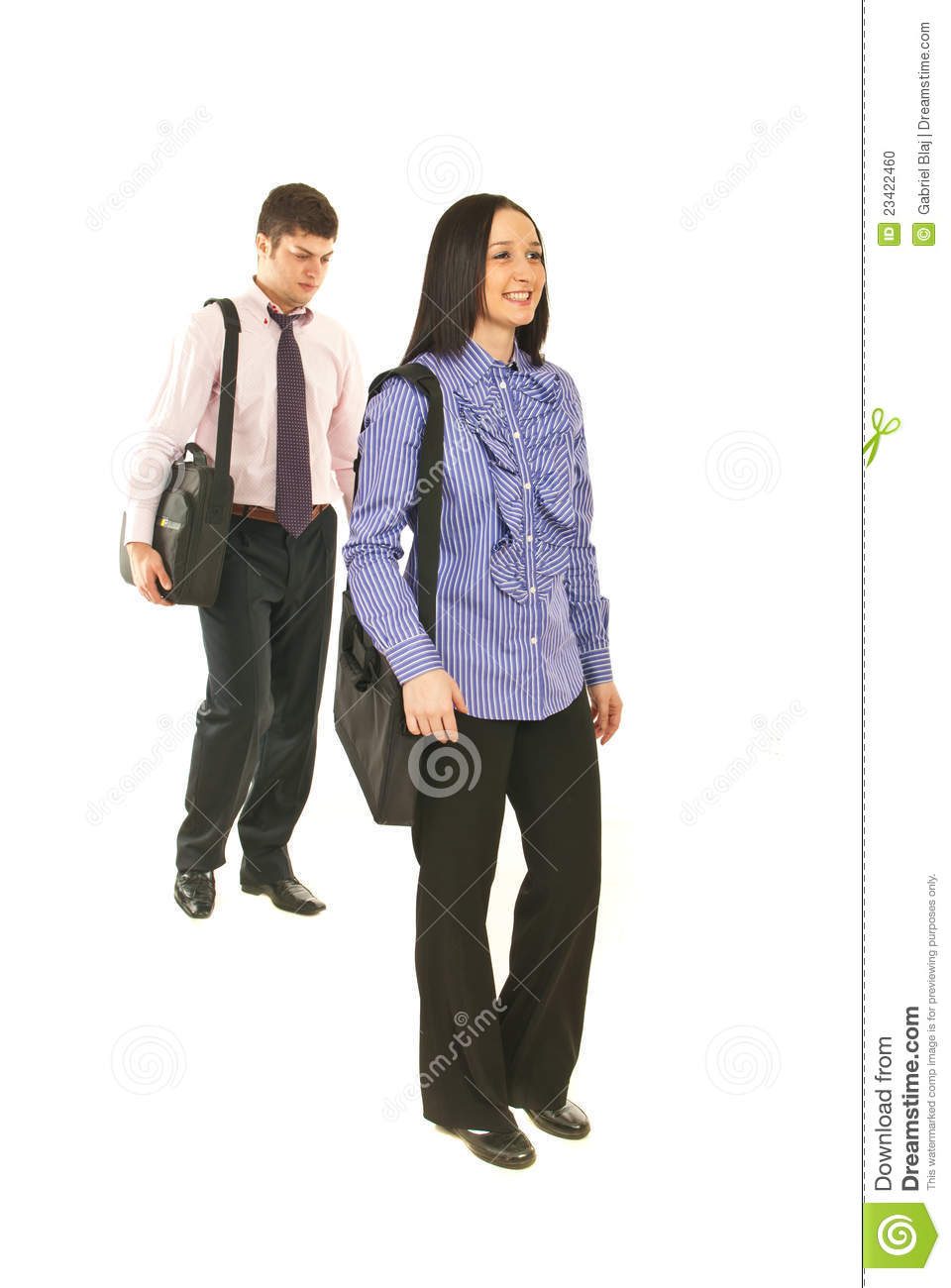 Business People Walking To Their Jobs Stock Photo - Image: 23422460