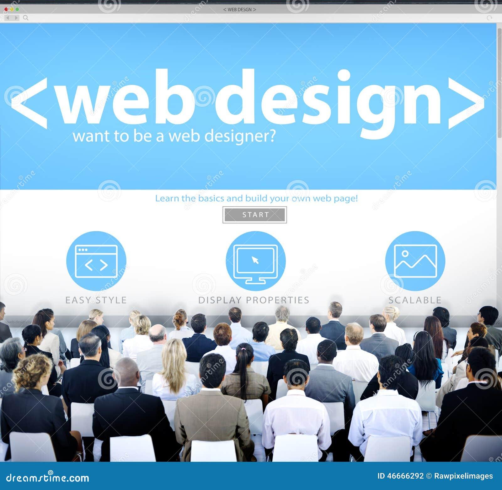 Business People Web Design Seminar Concept Stock Photo