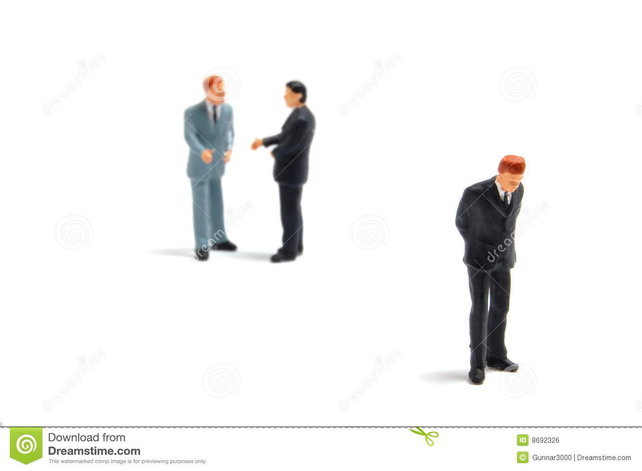 Business People On White Background Stock Photo