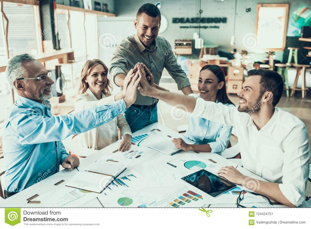 Business People at Work in Office Teamwork Concept