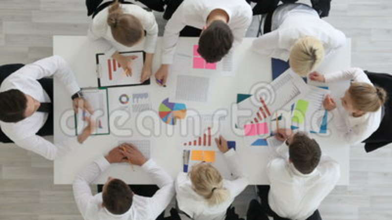 business people work with statistics stock video - video of people,  analysis: 96708009