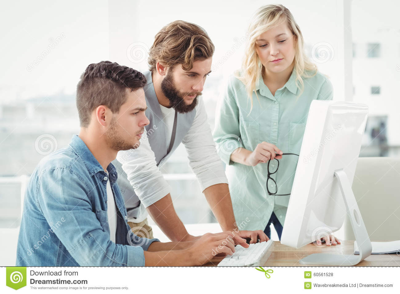 Business People Working On Computer Stock Photo - Image ...