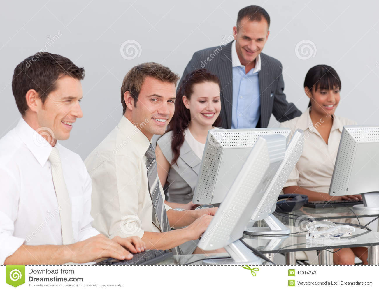 Business People Working With Computers Stock Photos ...