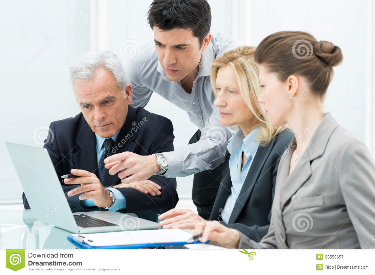 Business People Working On Laptop Royalty Free Stock ...