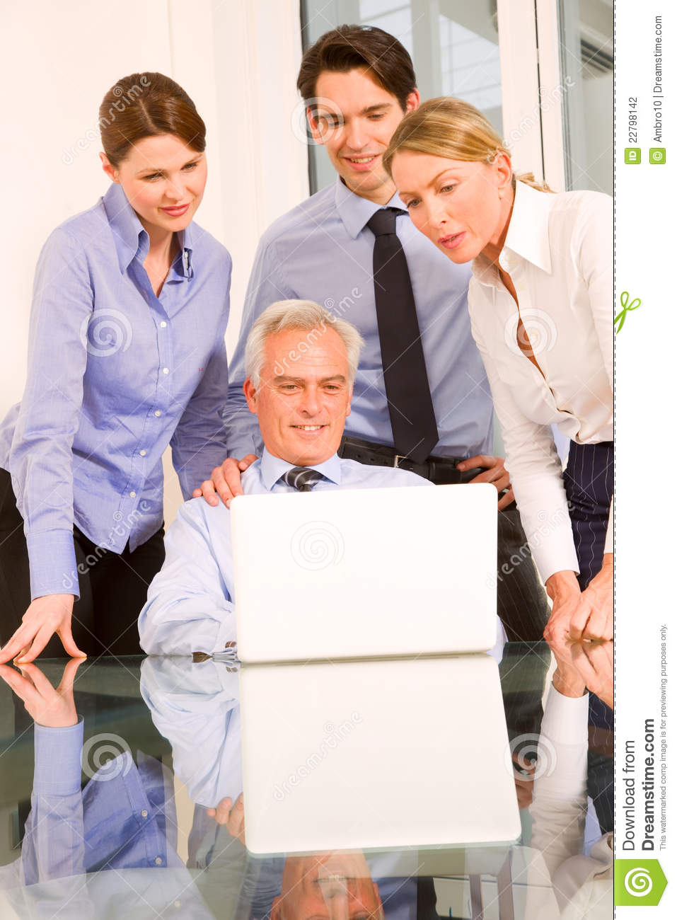 Business people during a working meeting