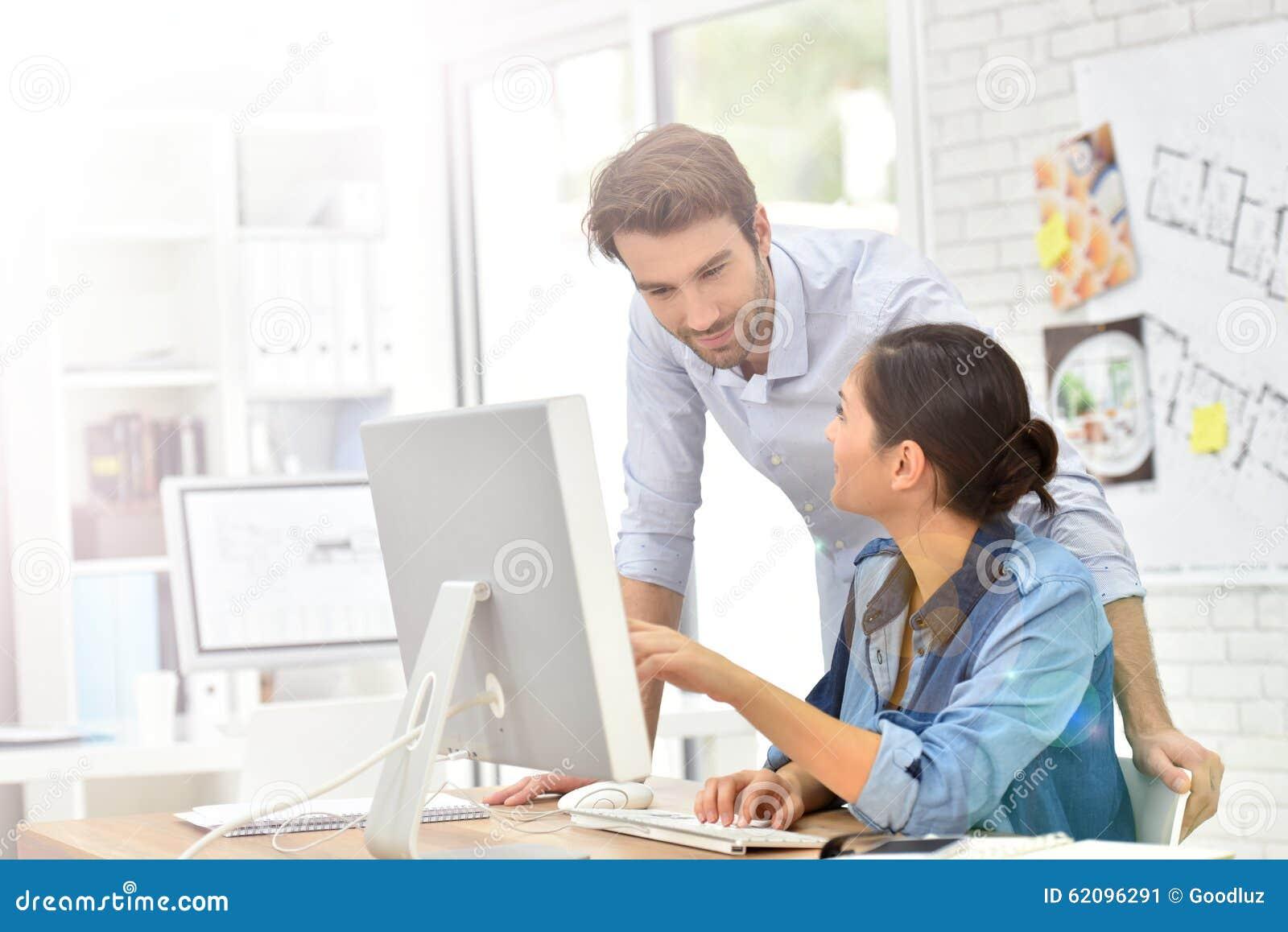 Business People Working Odesktop Computer Stock Photo ...
