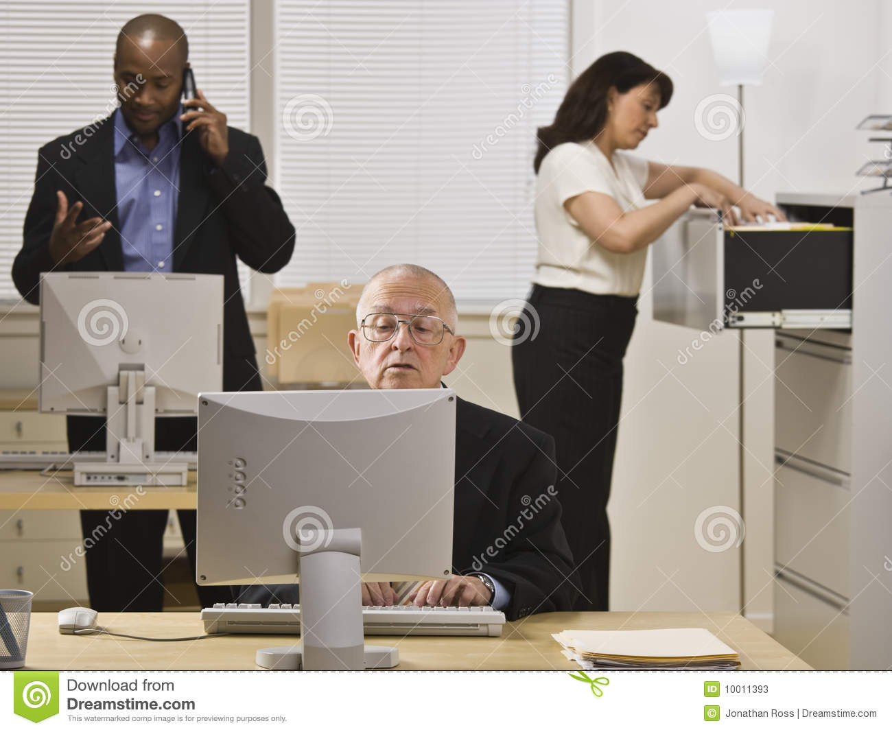 Business People Working In Office Stock Photos Image