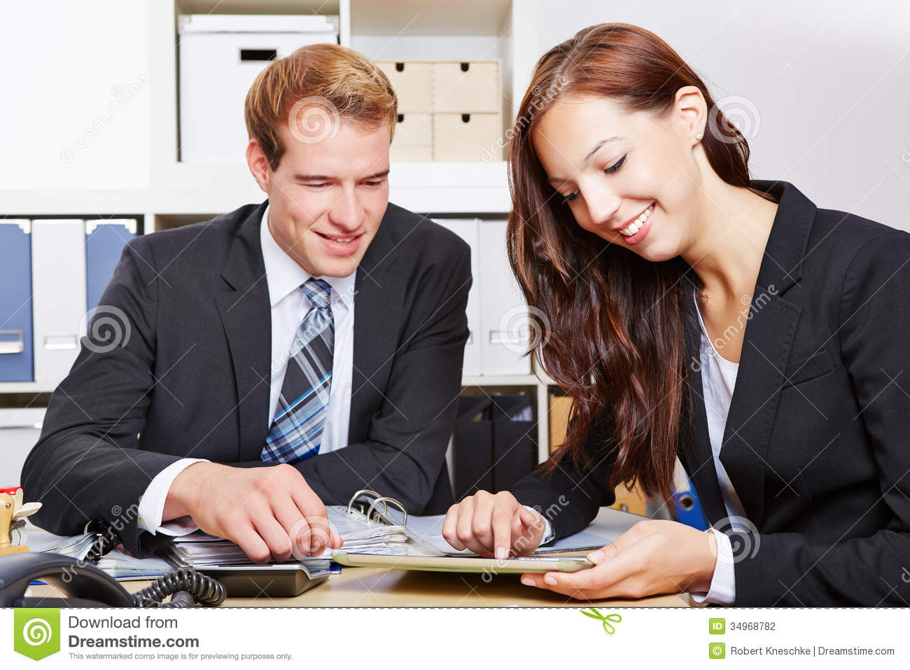 Business People Working With Tablet Stock Photo - Image of ...