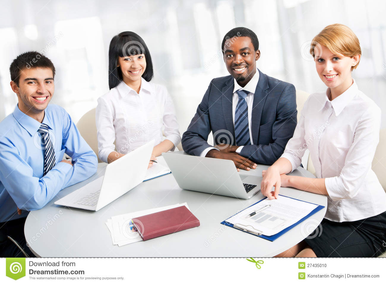 Business People Working Together Stock Photo Image Of Handsome