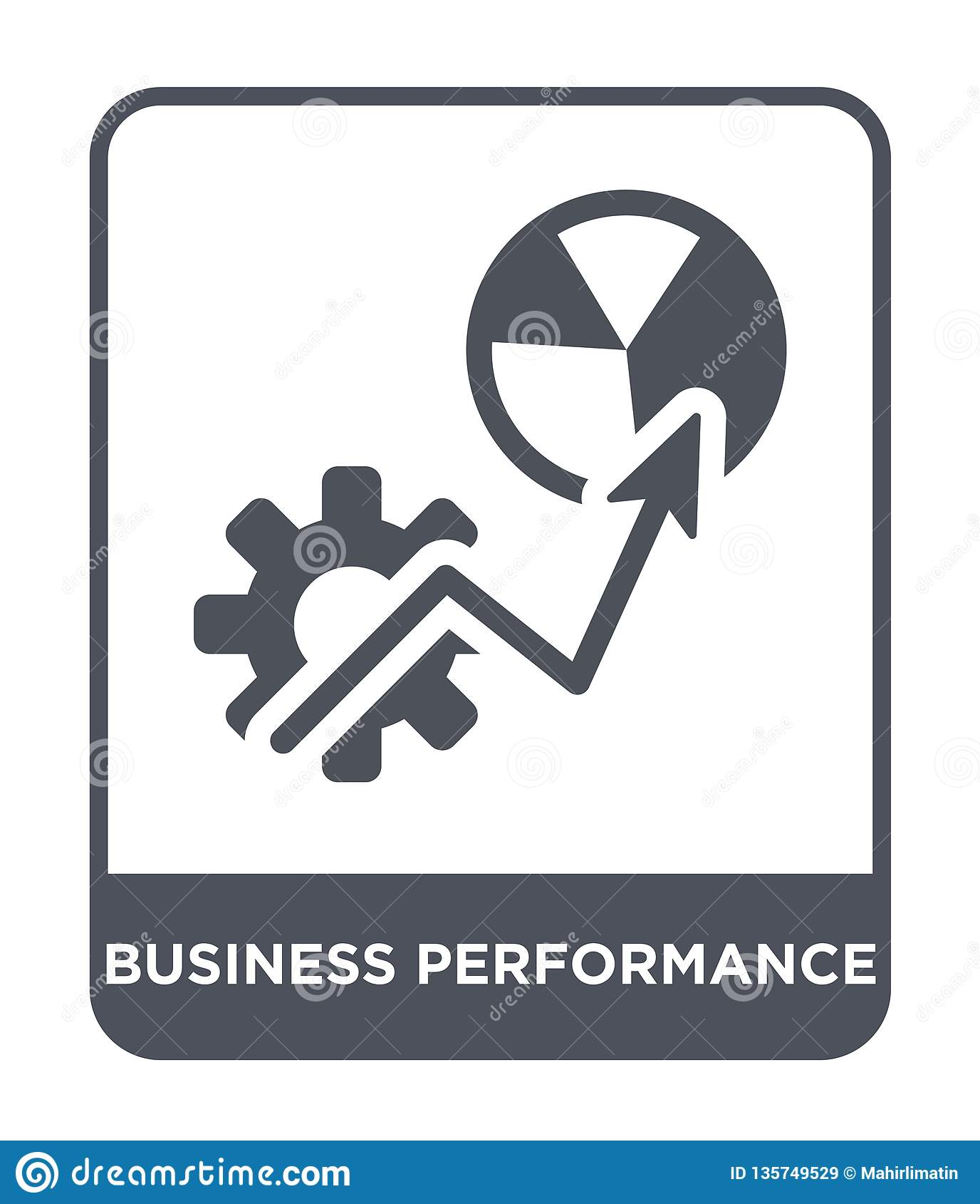 business performance icon in trendy design style. business performance icon isolated on white background. business performance