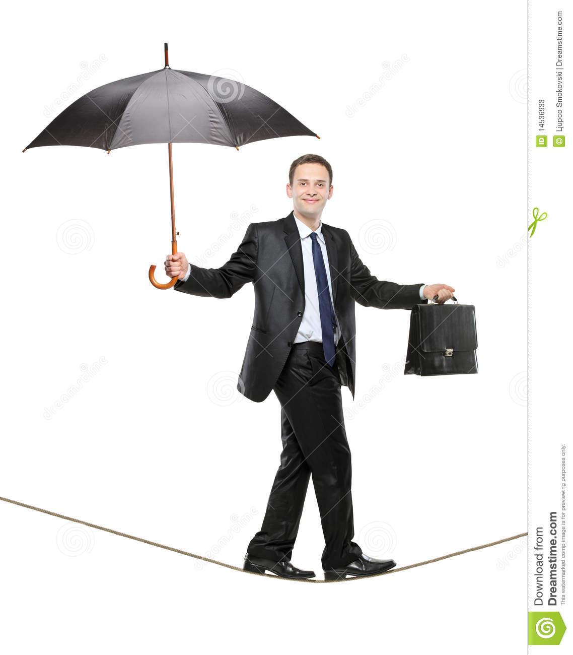 A Business Person Holding An Umbrella Stock Image