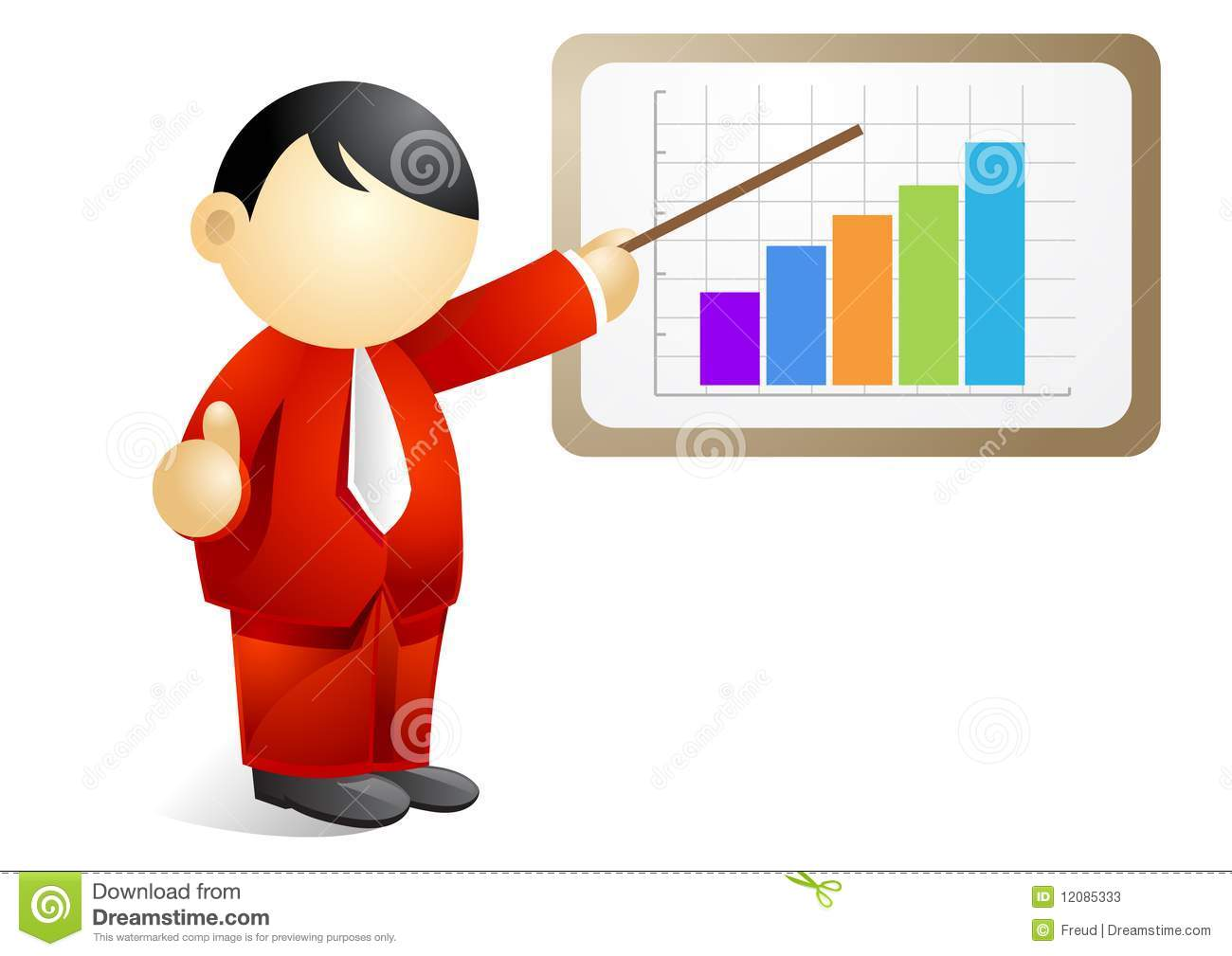 Business Person - Presenting A Progressive Chart Stock Photos - Image ...