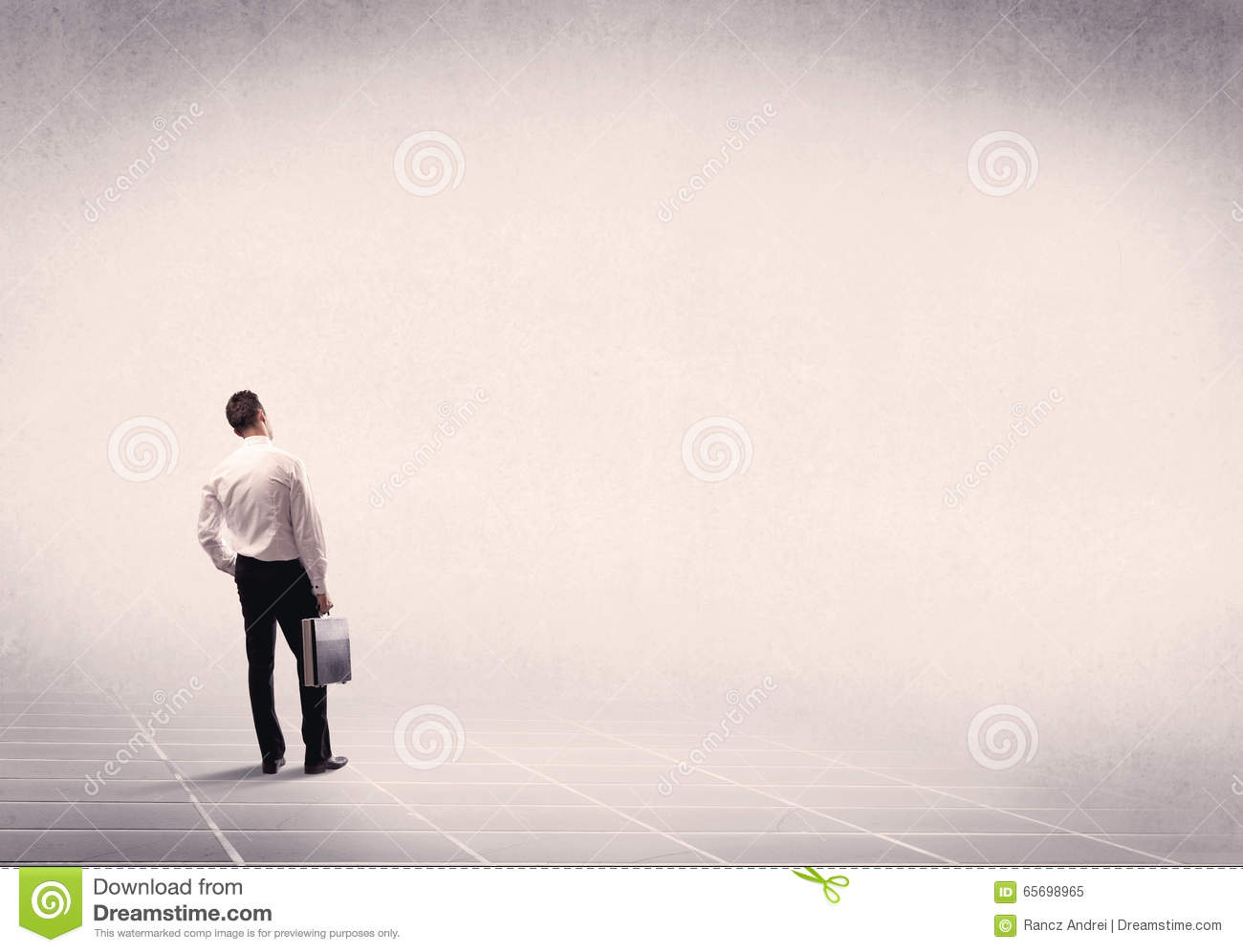 Business Person Standing In Empty Space Stock Image