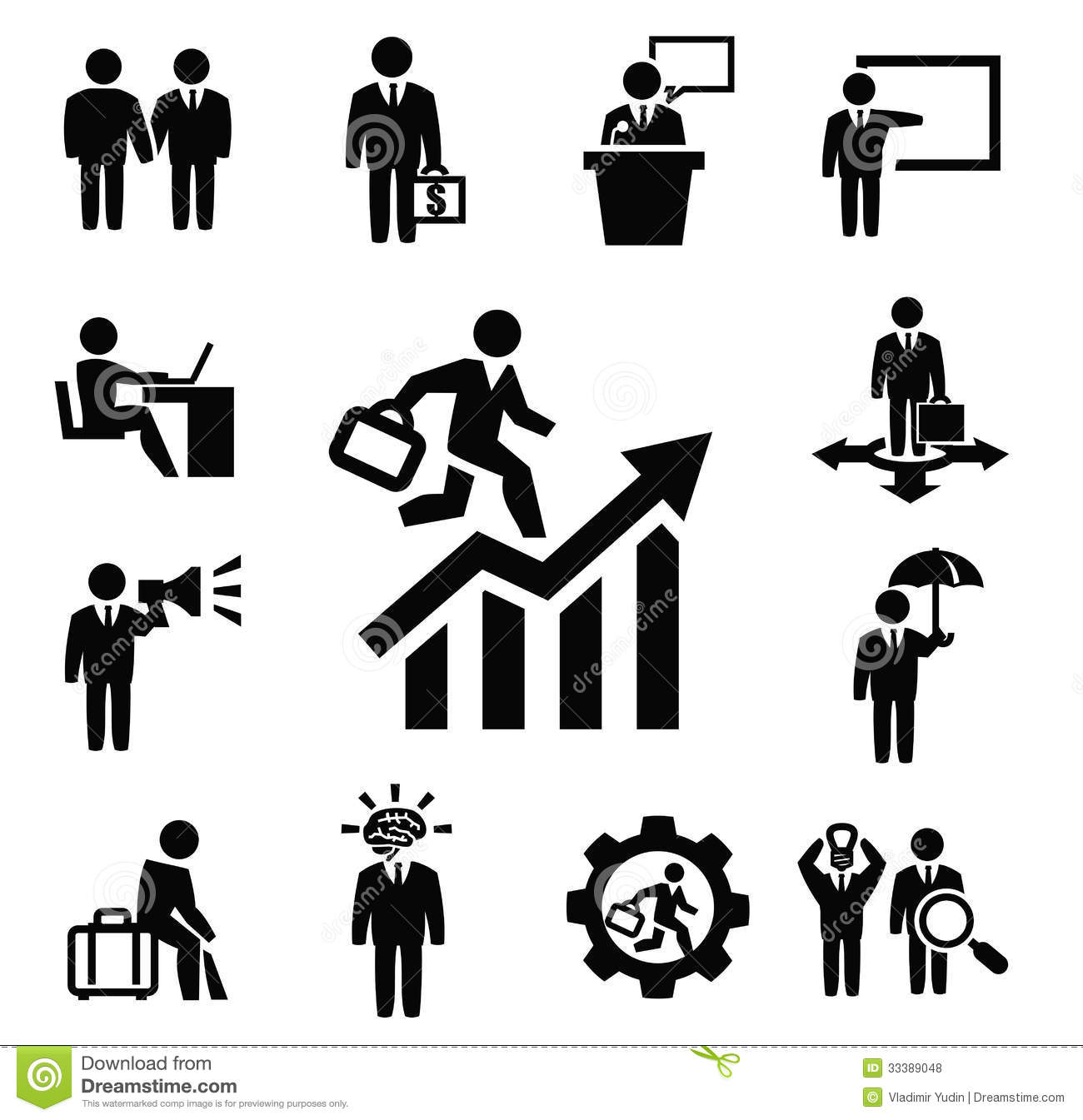 3d Diagram Maker Business Persons Icons Stock Vector Image Of Leadership