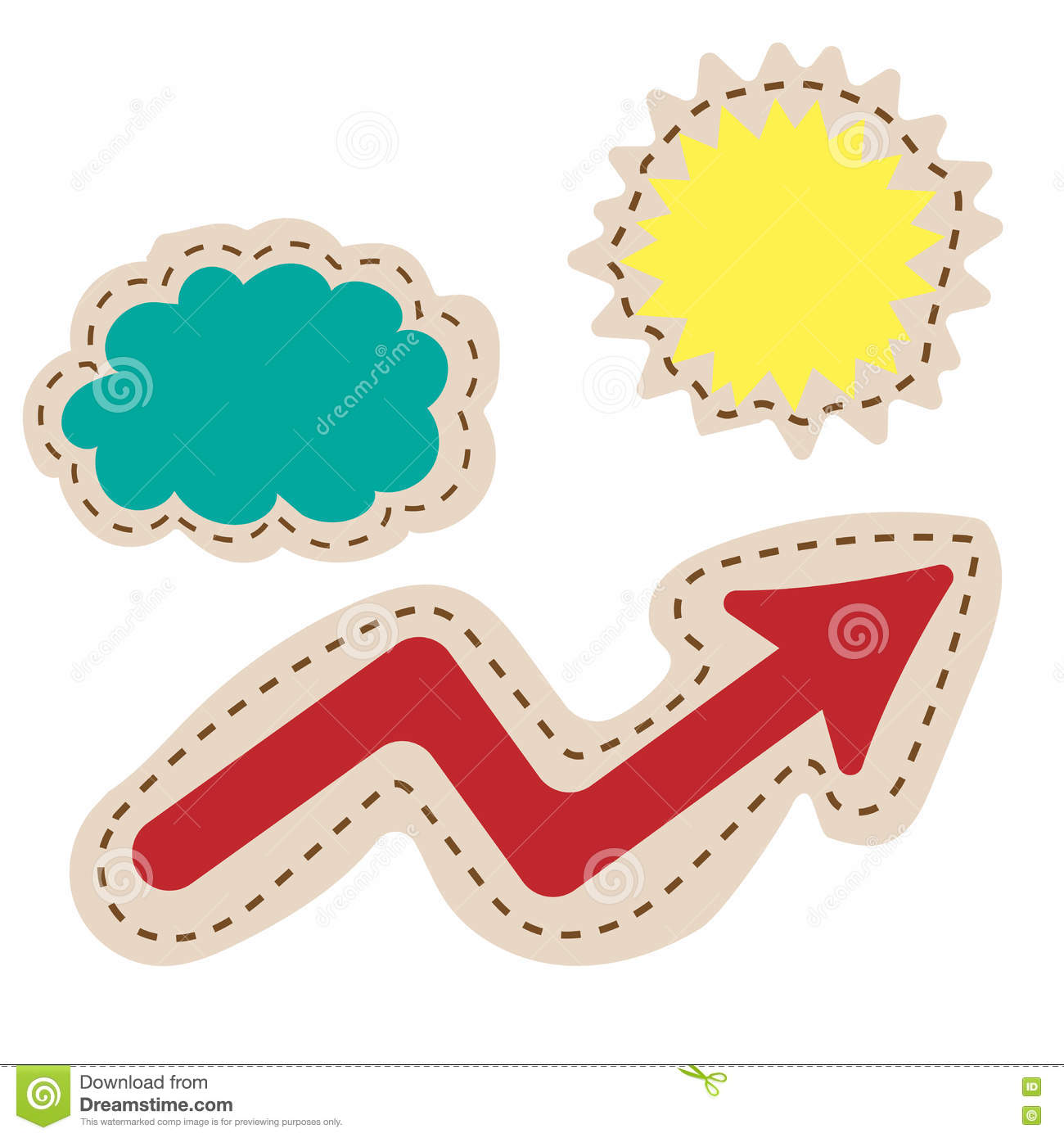 Business Pie Chart Growth Curve Presentation Buttons Weather