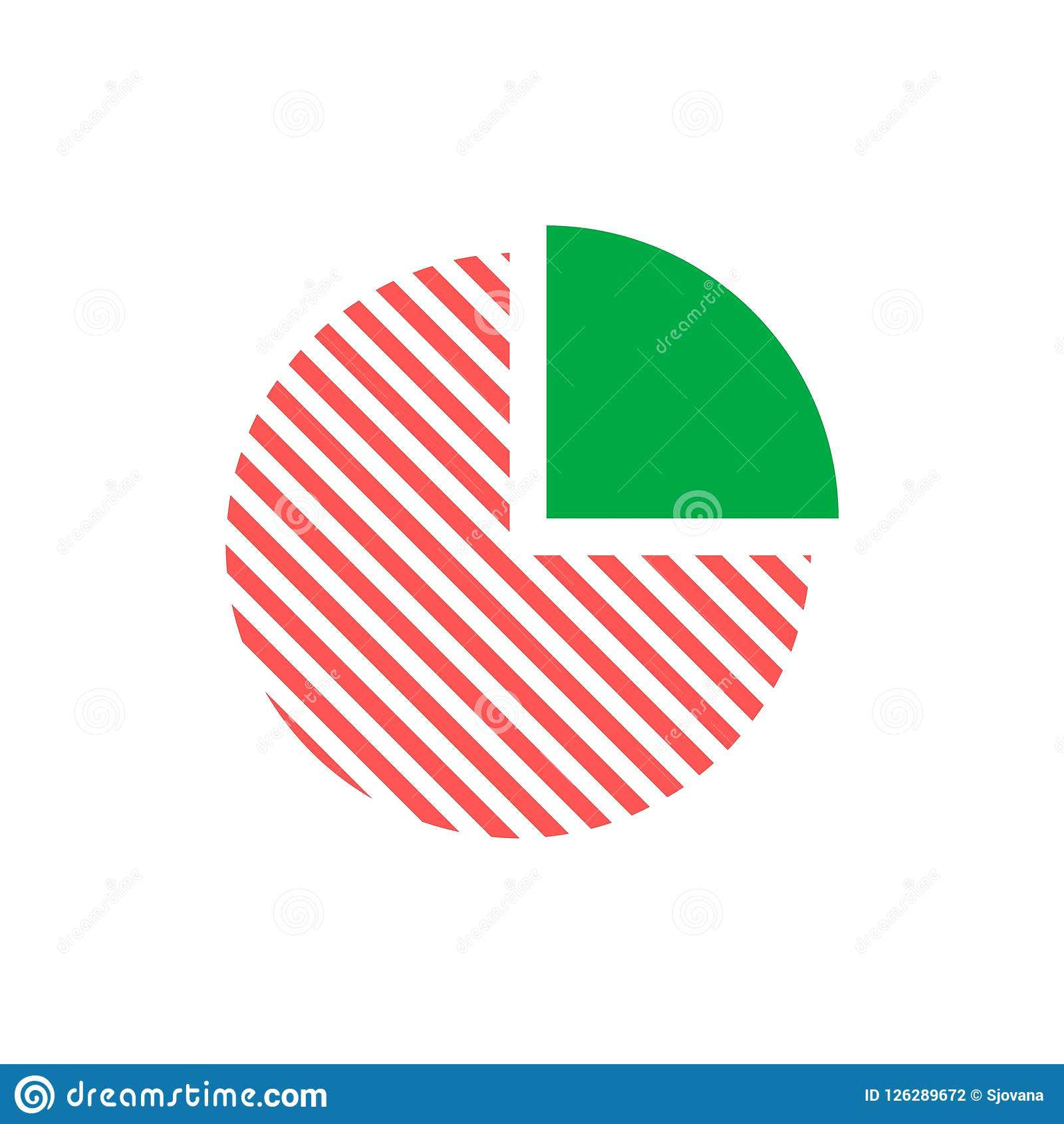 business pie chart icon simple vector icon stock vector