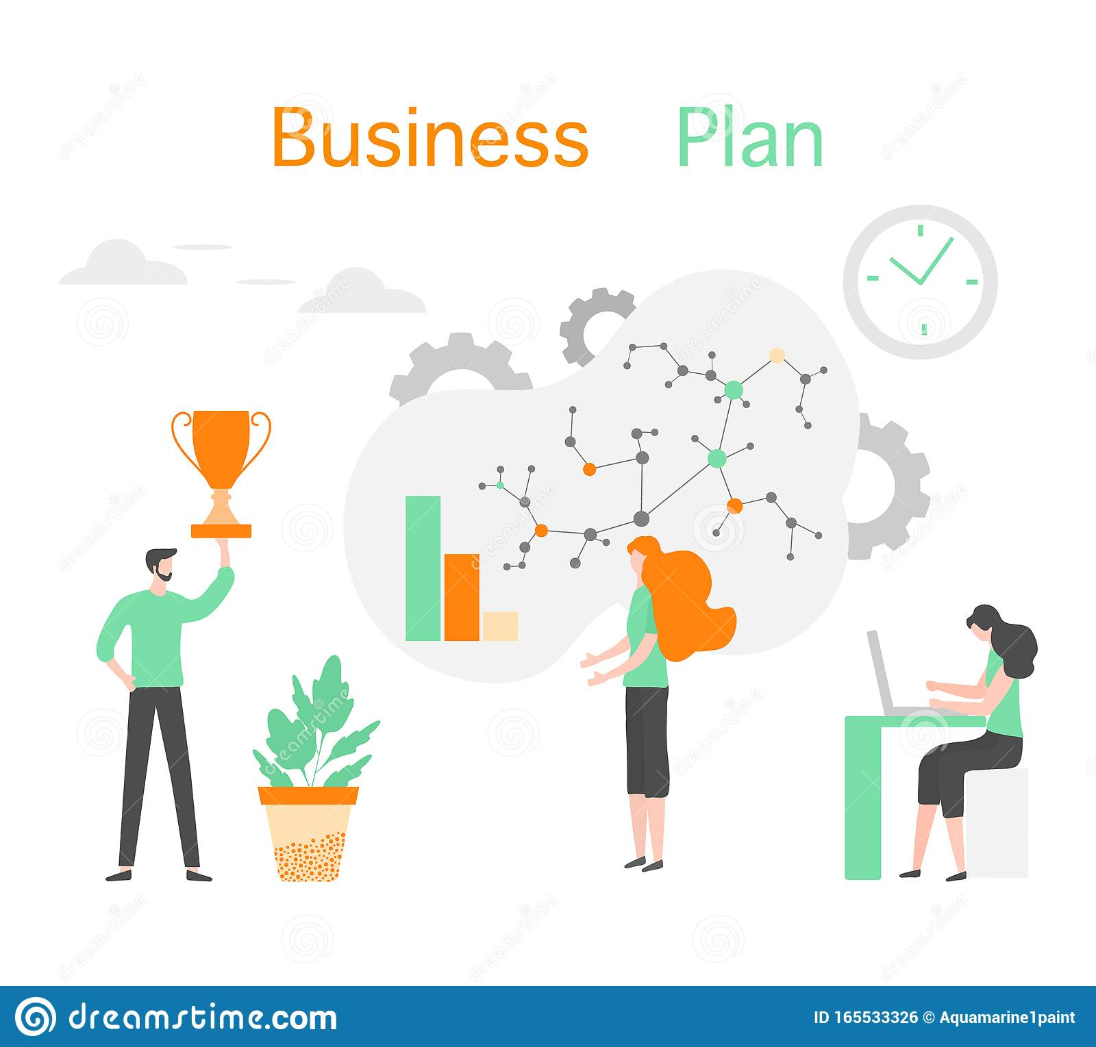 business plan analytics finance strategy people stock vector - illustration  of corporate, gear: 165533326  dreamstime.com