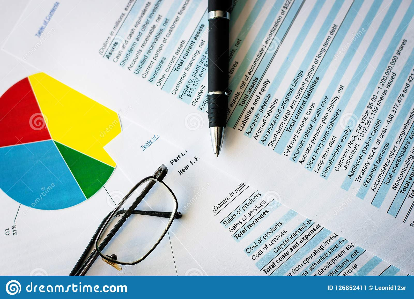business plan and business chart balance the investment portfolio