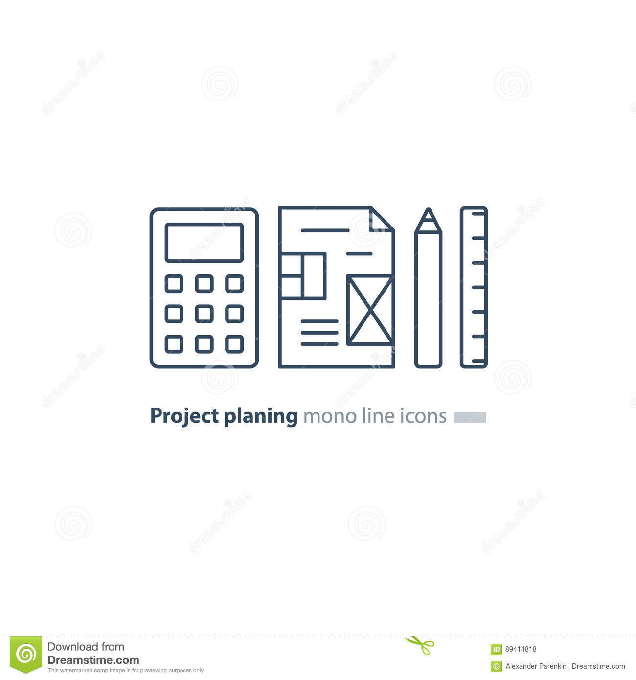 The draft plan of arrangement royalty free stock image for Blueprint estimator