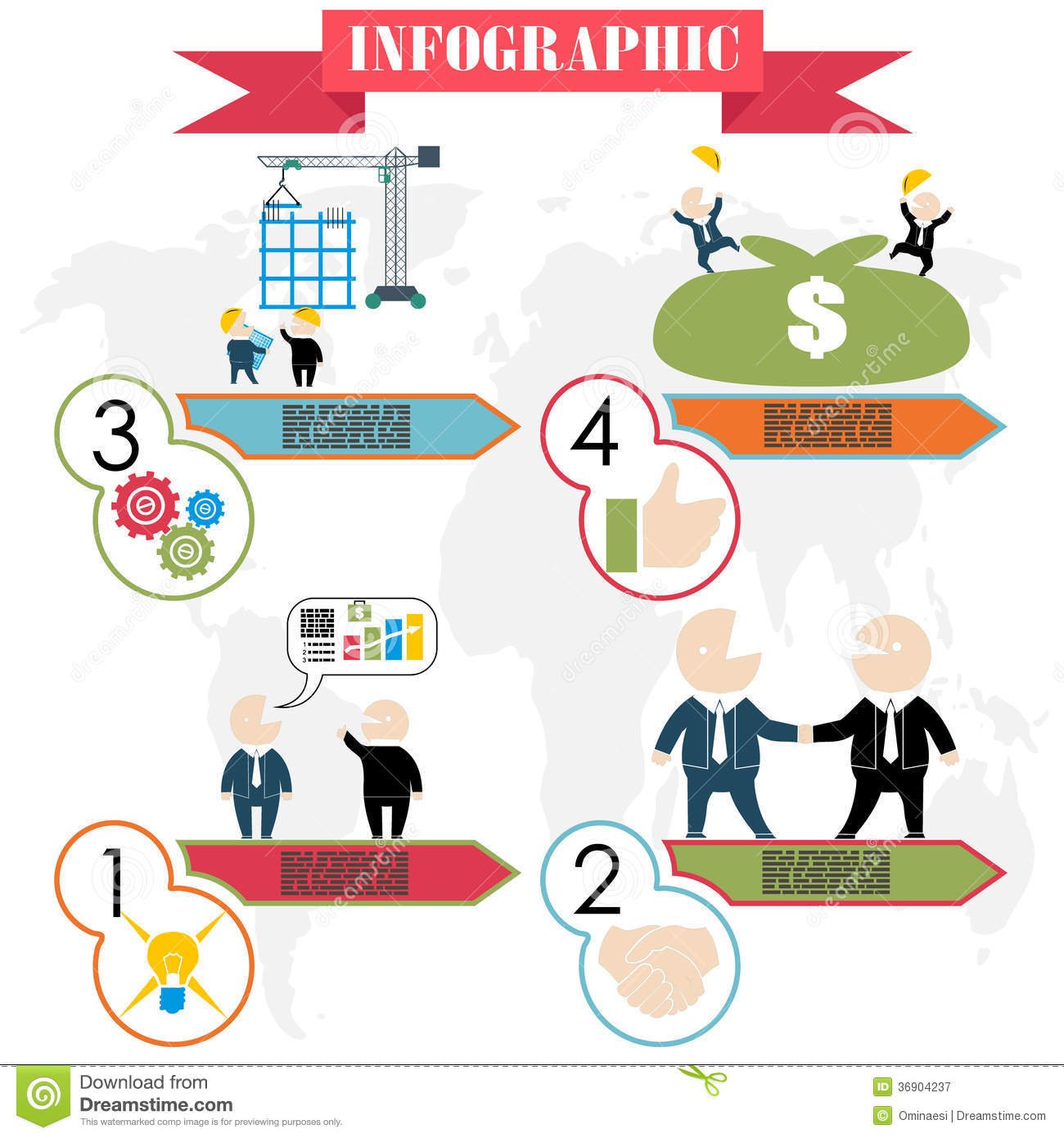 Business Plan Concept Steps Infographics Flat Royalty Free – Photography Business Plans