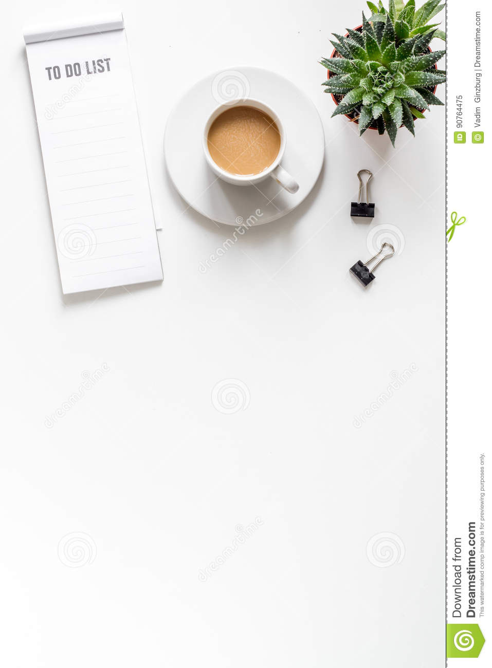 business plan development with list and coffee desk background top