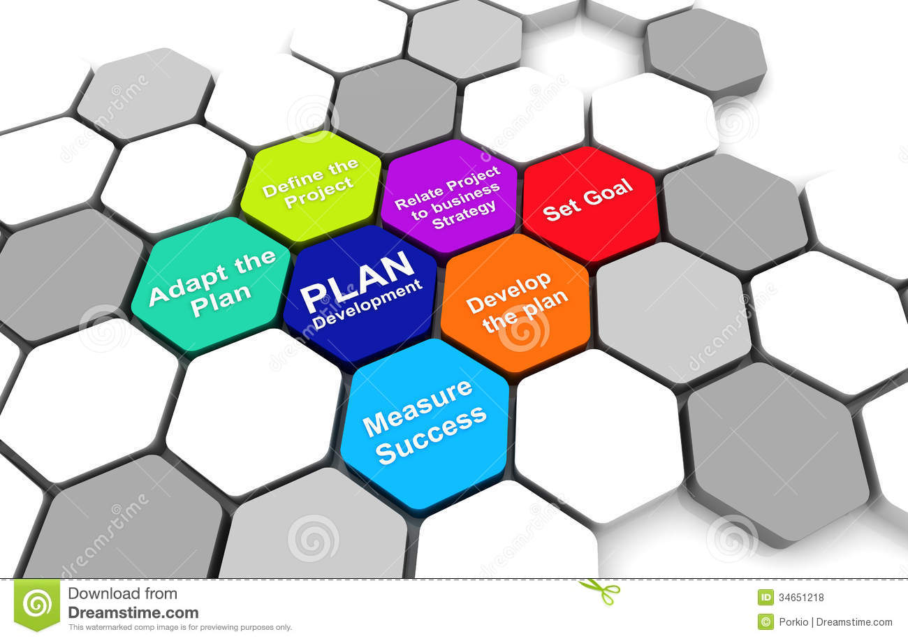 Business Plan Diagram Connection Beehive Background Royalty Free ...