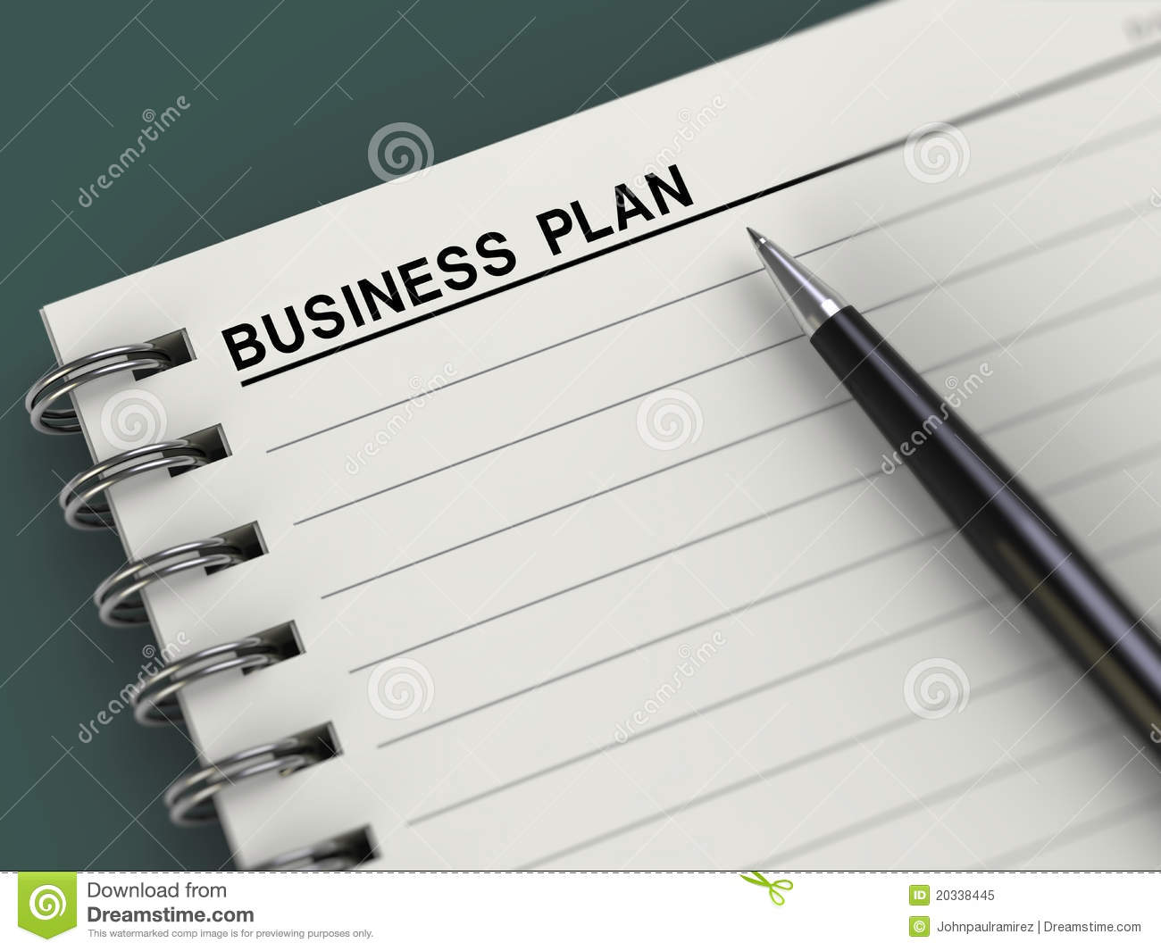 business plan title notebook planner pen royalty free