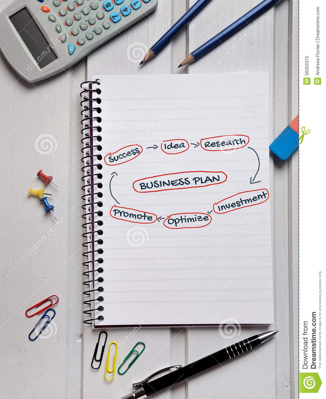 Business plan word stock image  Image of idea, gain, finance