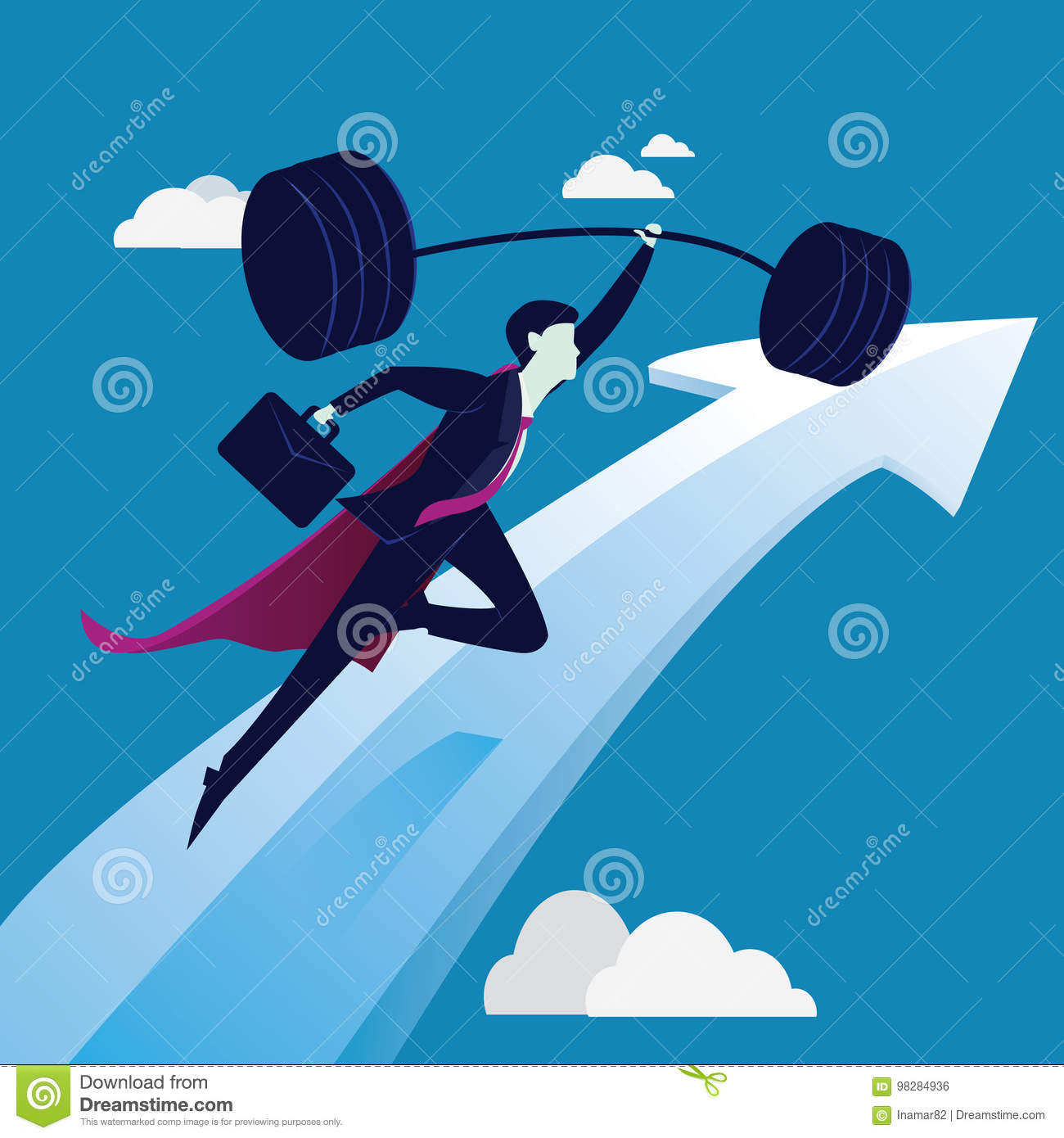 Business Power Strength Concept Stock Vector - Illustration