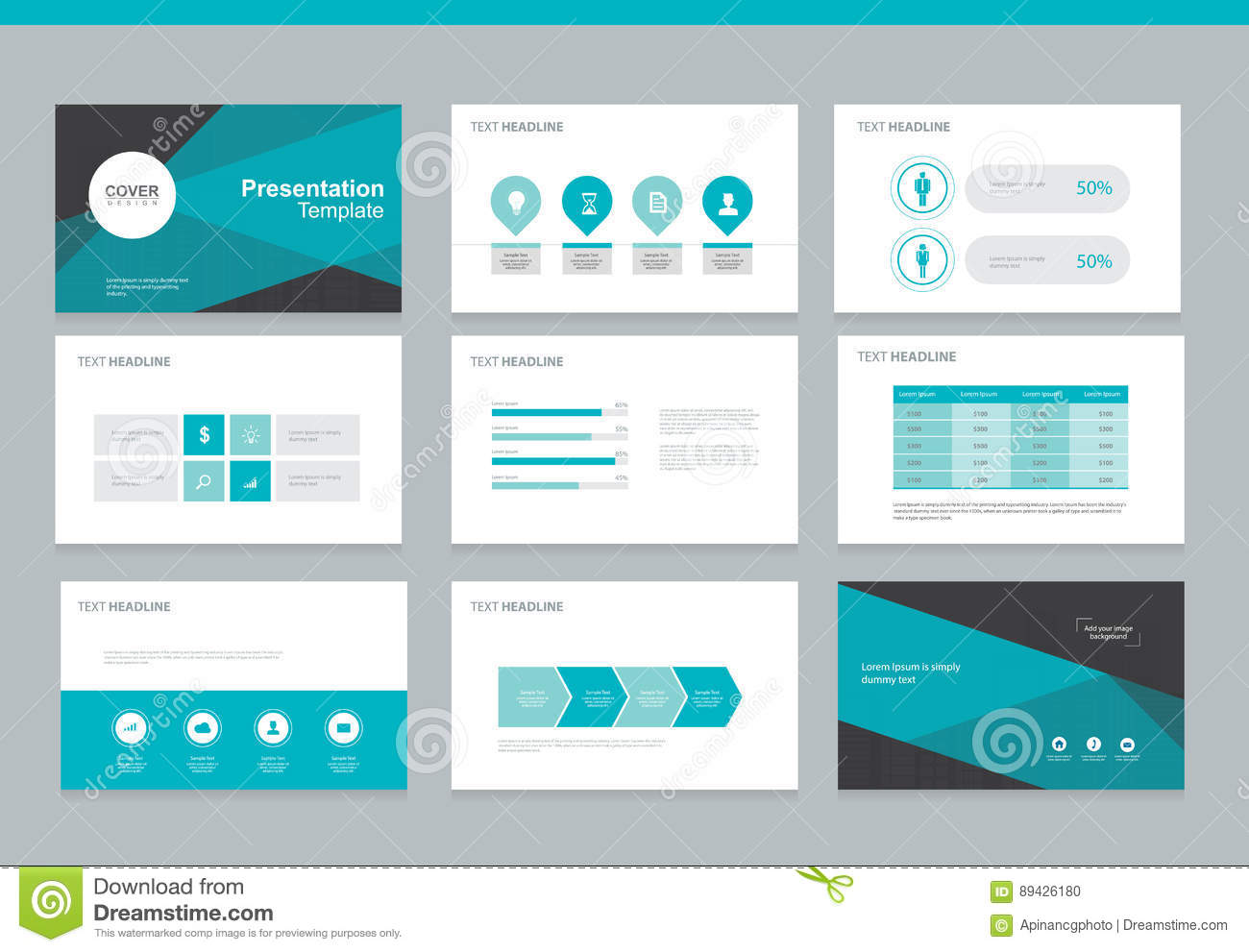 business presentation background design template stock vector, Powerpoint templates