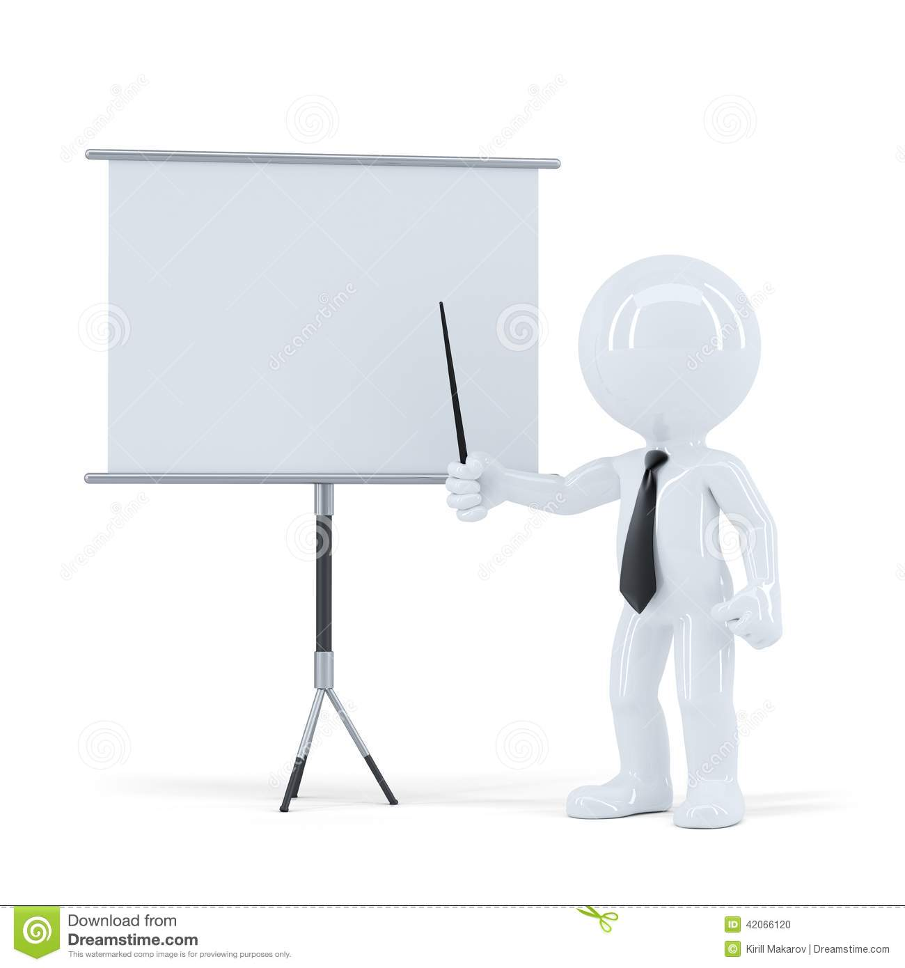Justificativa Business Presentation 3d Man Standing In Front Of A Blank