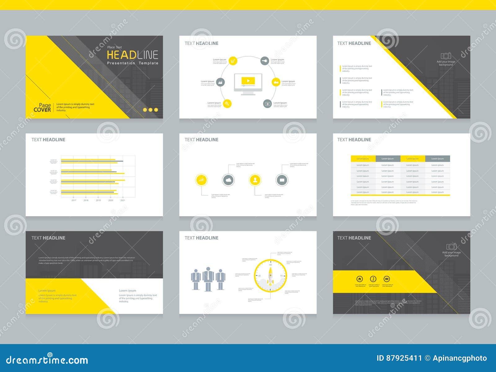 business presentation design template background stock vector