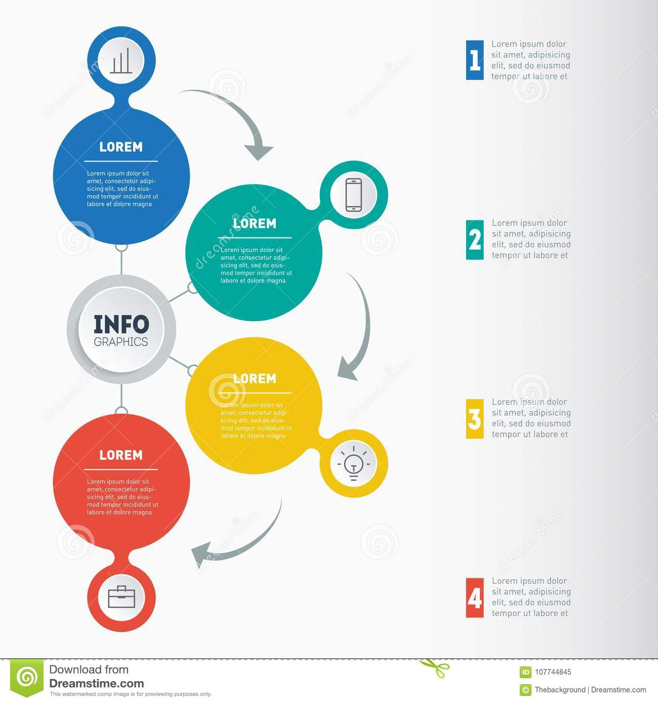 business presentation or info graphic with 4 options vector inf