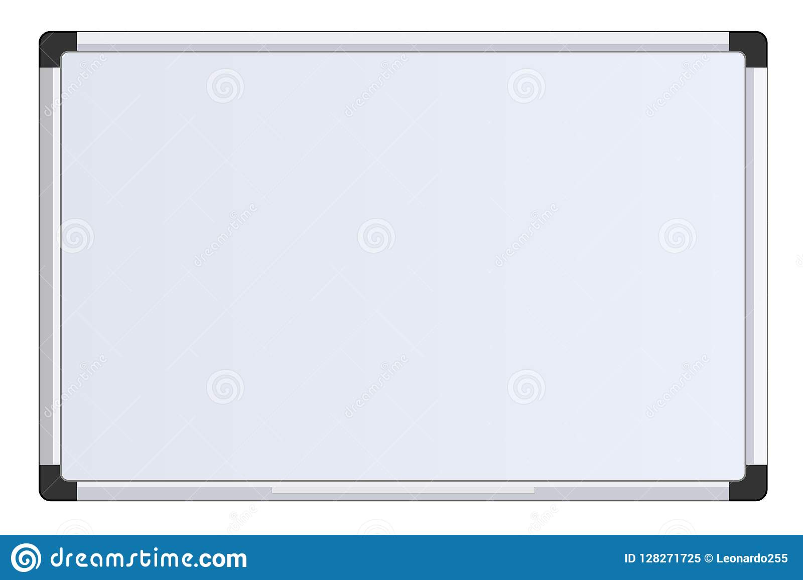 business presentation office white board isolated mockup stock