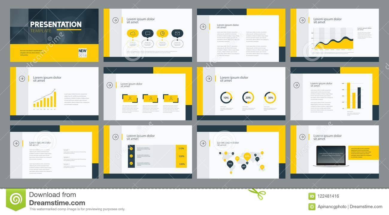 Business Presentation Template Design And Page Layout Design For Brochure Annual Report And Company Profile Stock Vector Illustration Of Business Poster 122481416