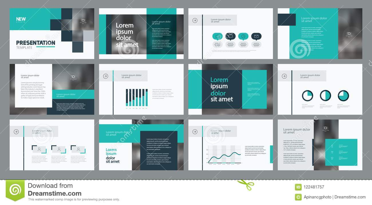 business presentation template design and page layout design for