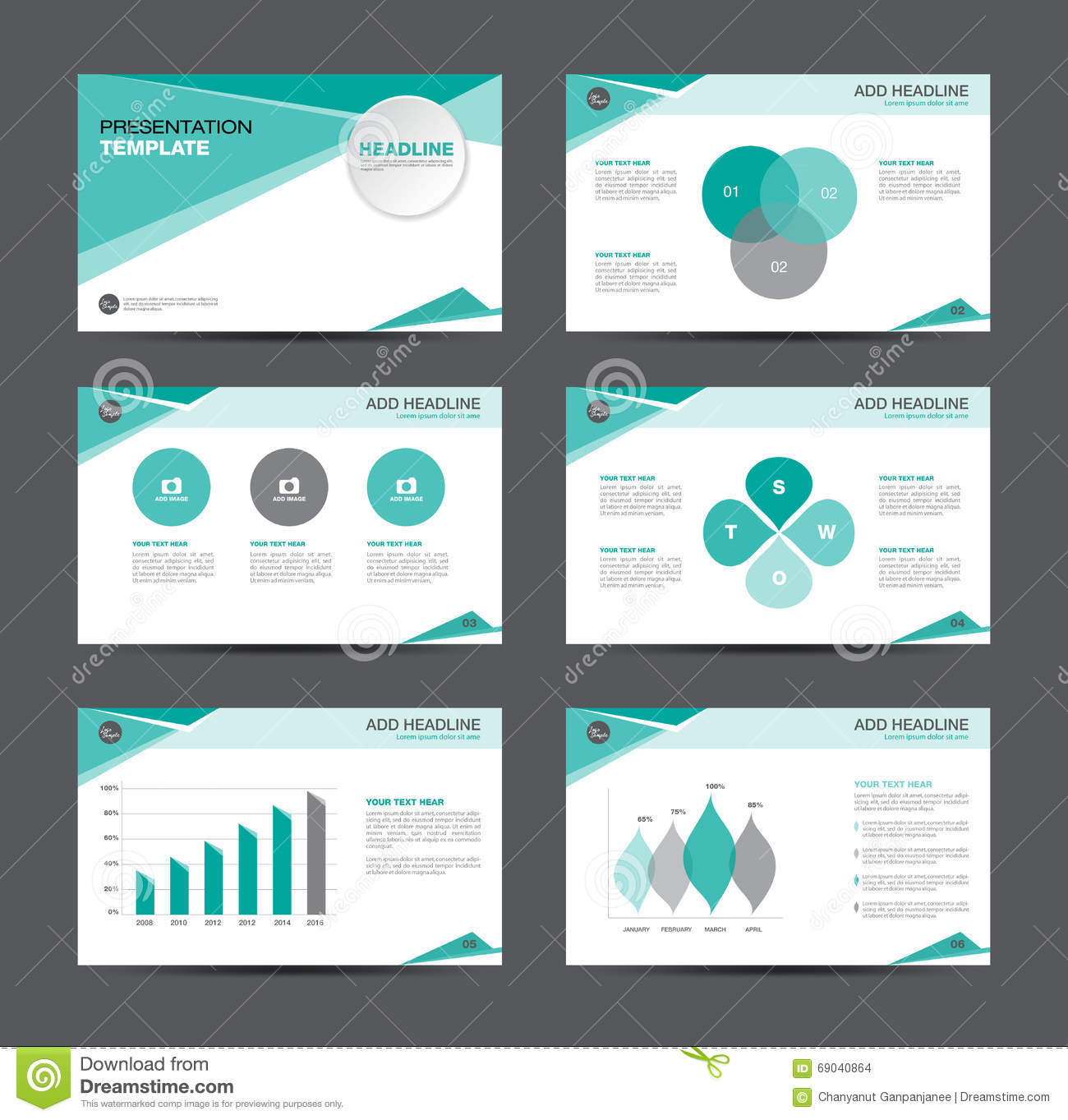 business presentation template design stock vector illustration of