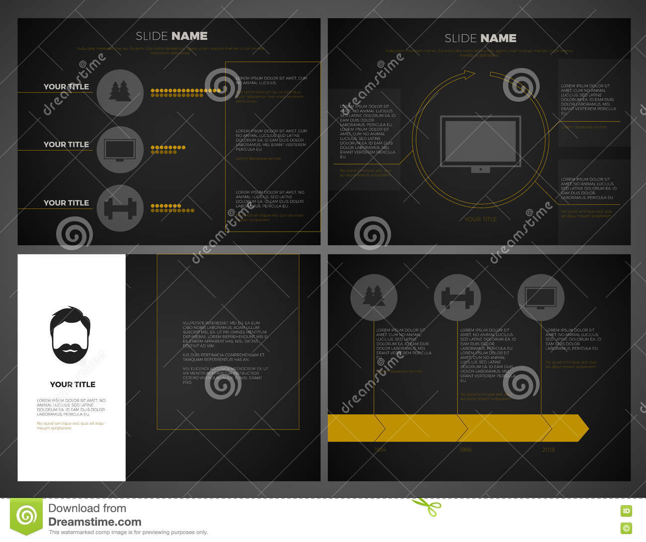 Business Presentation Template Set Powerpoint Template
