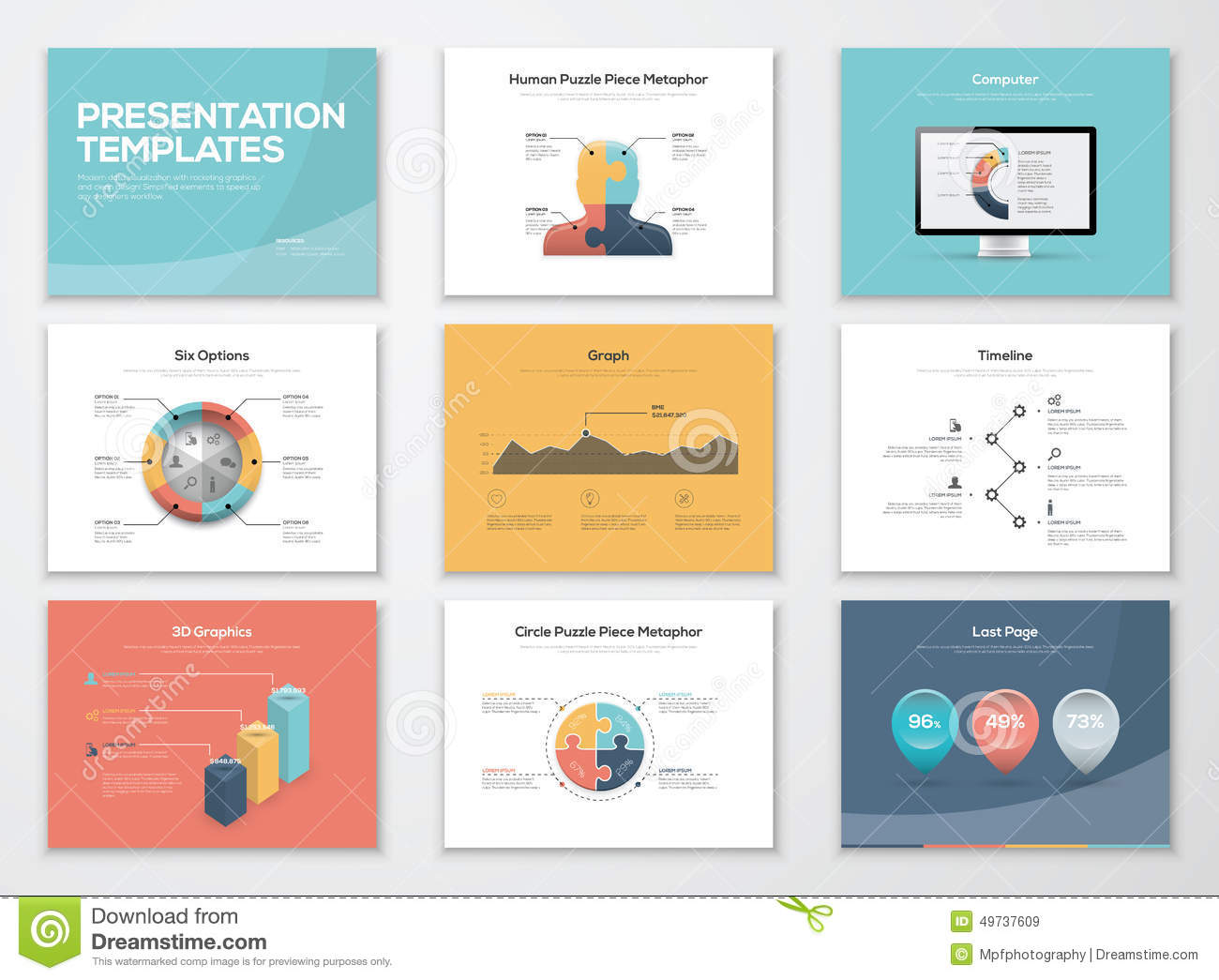 business presentation templates and infographics vector elements, Presentation templates