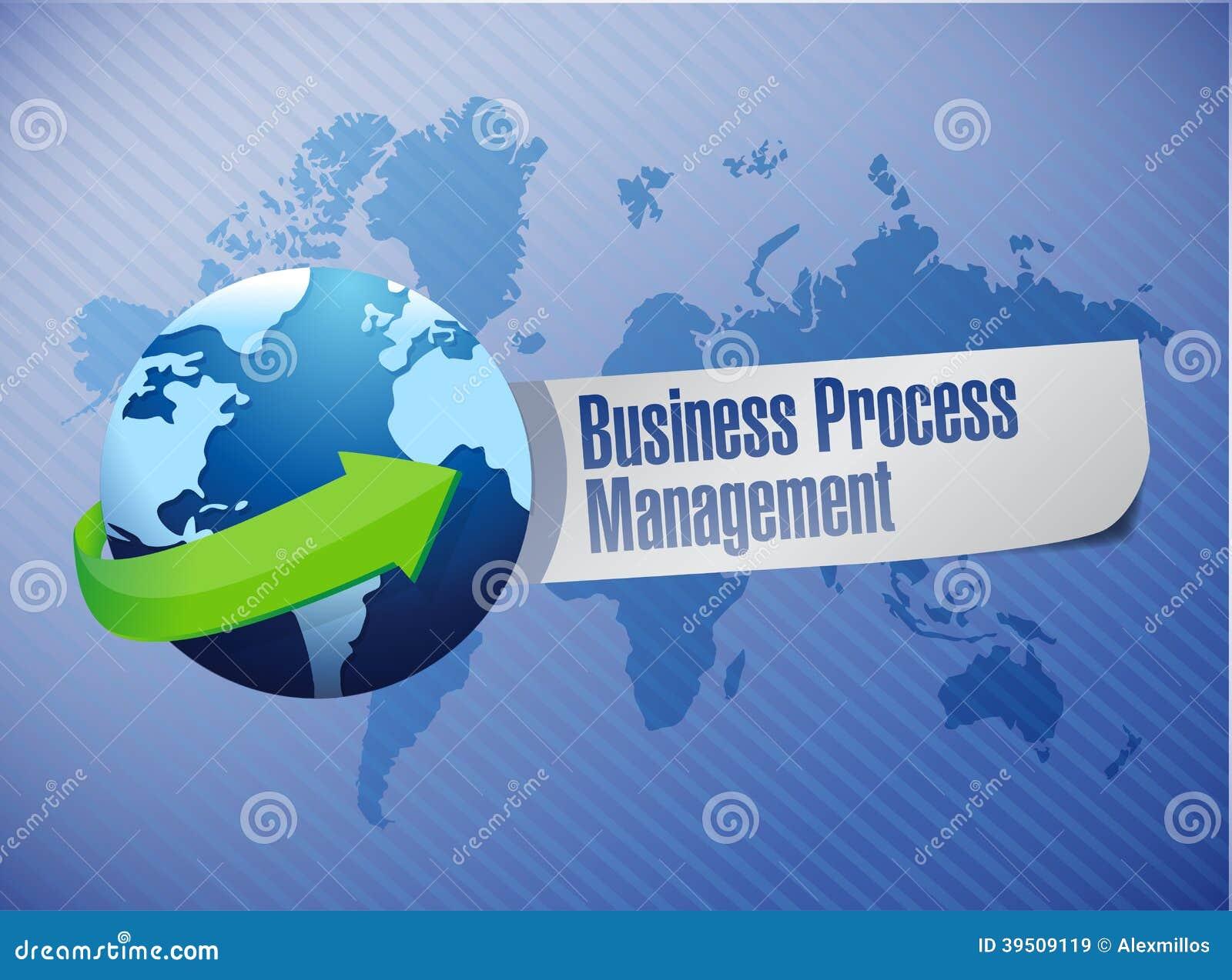 Business process management globe sign