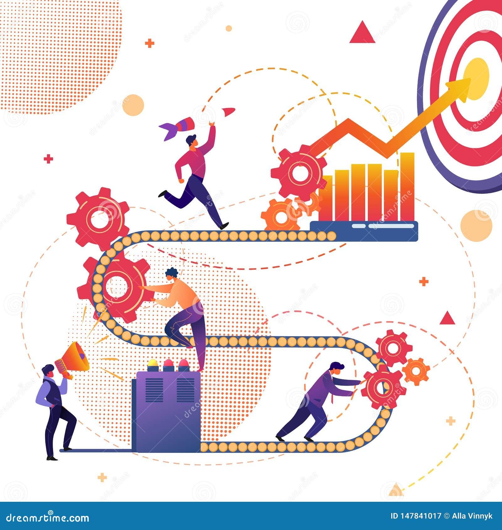 Business Process of Success Achievement Metaphor.