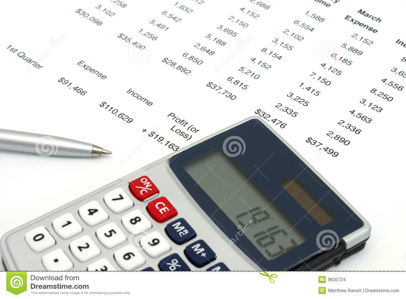 business projections stock photo image of income analyzing 9630724