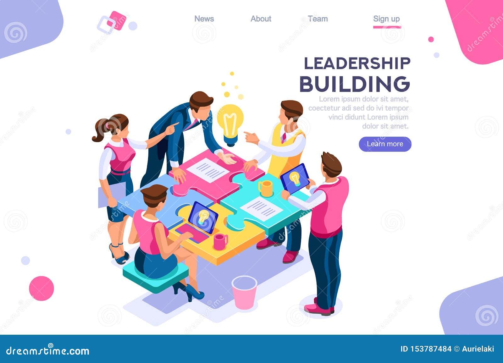 Business Puzzle Unity Leader Construction