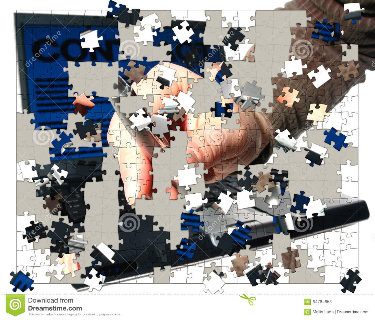Download Business Puzzle Pieces stock illustration. Illustration of commerce - 64784858