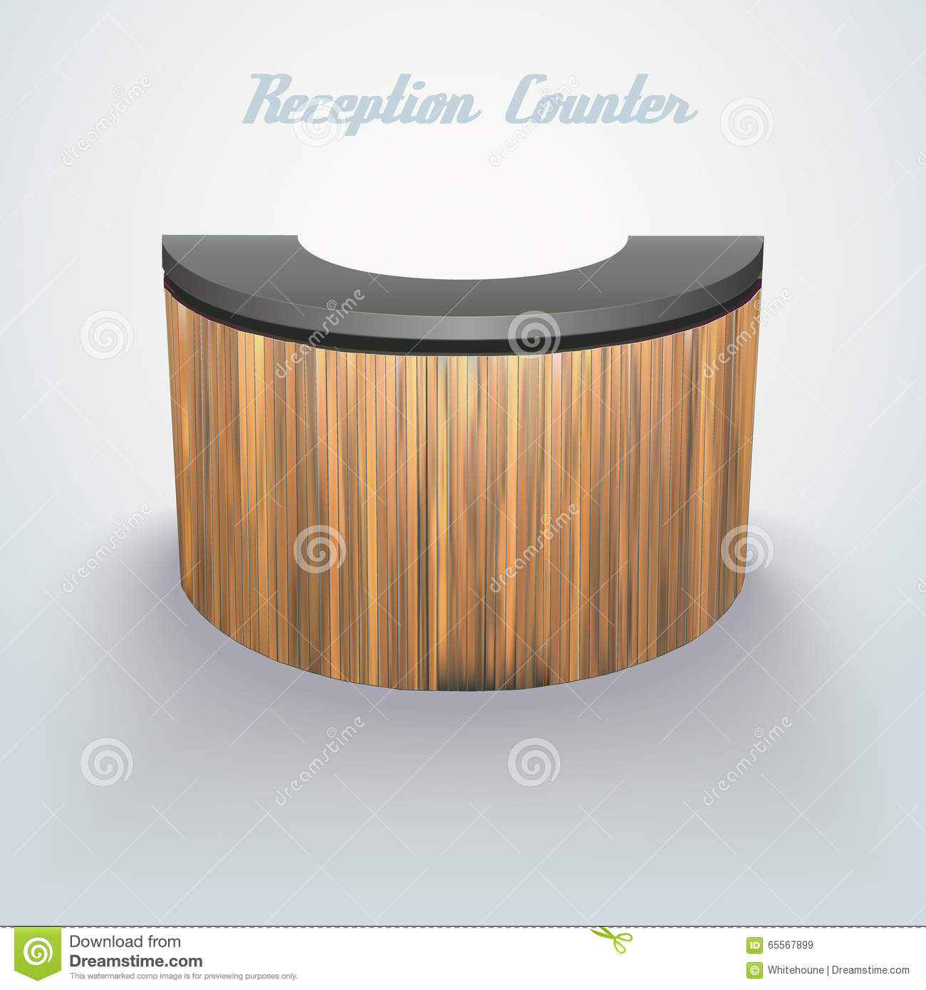 Business Reception Counter Stock Vector Illustration Of Futuristic